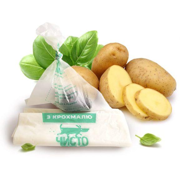 Биоразлагаемые пакеты из крахмала Чистопес